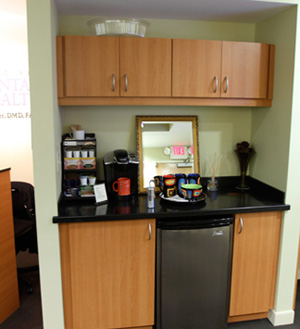If you're in need of a snack or a tasty beverage, please feel free to utilize our patient beverage center